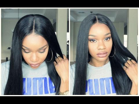 Affordable T-Part Pre Tweezed Lace Front Wigs   Lwigs.com