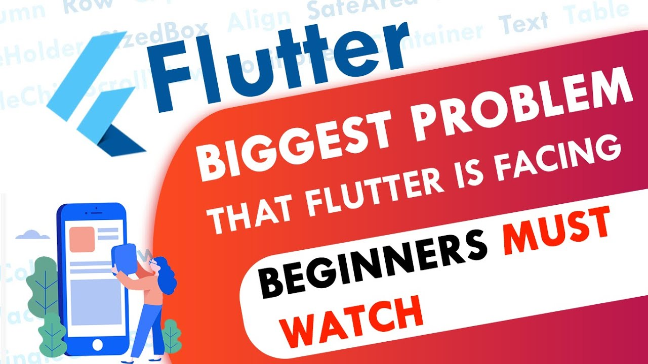 The Biggest Problem that Flutter is Facing   Beginners Must Watch
