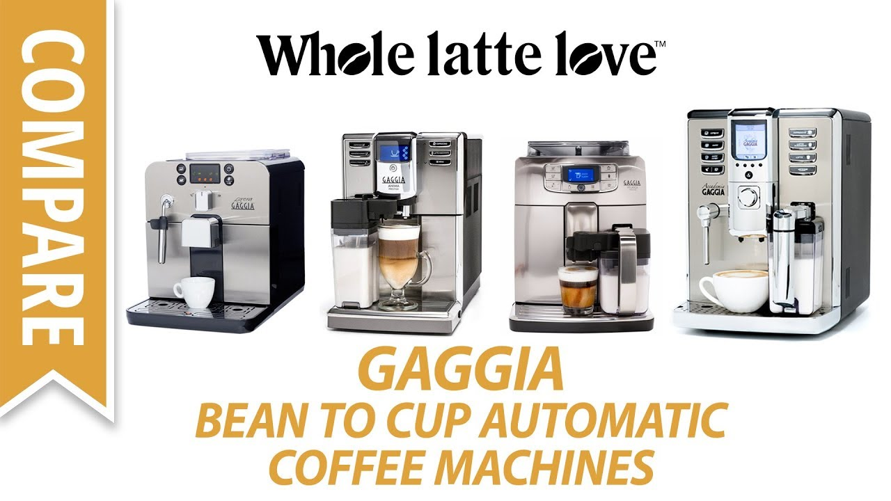 Compare: Automatic Bean to Cup Coffee Machines from Gaggia ...