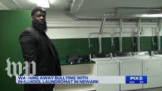 New Jersey high school installs laundry room to help bullied students
