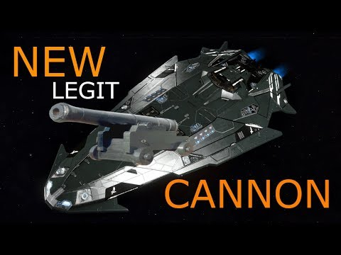 Elite Dangerous - Trying out my NEW Cannon - Anaconda PVE Combat