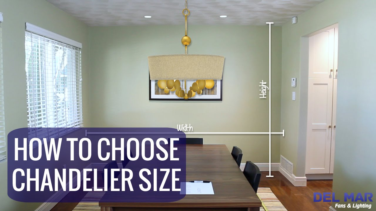 How to Choose the Right Chandelier Size - YouTube