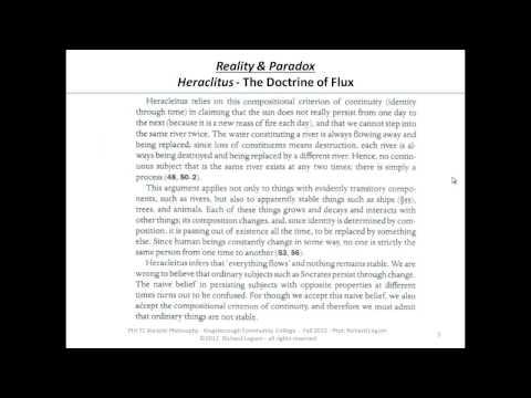 6b2. Heraclitus (part 1)