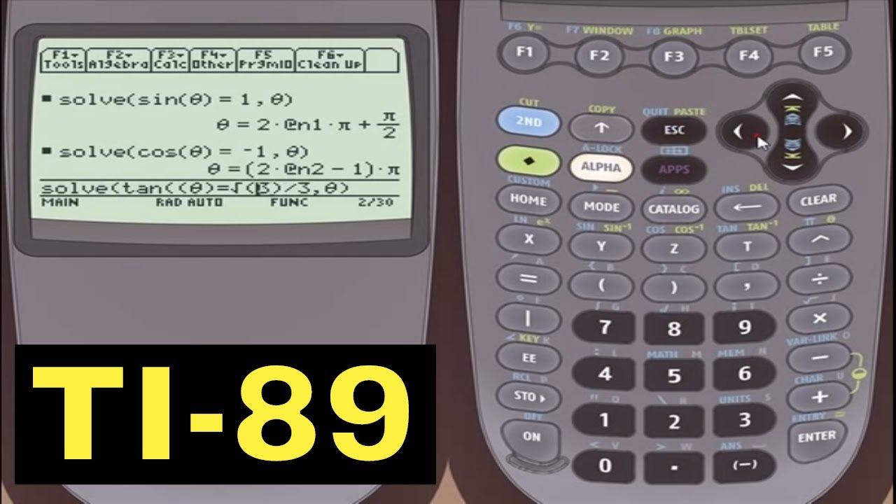 Ti 89 Calculator Solving Trigonometric Equations With The Ti 89