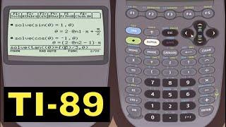 Ti-89 Calculator - Solving Trigonometric Equations with the TI-89 Calculator