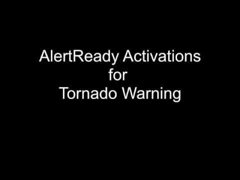 AlertReady Activations #1,2,3 for Tornado Warning 27/06/2015