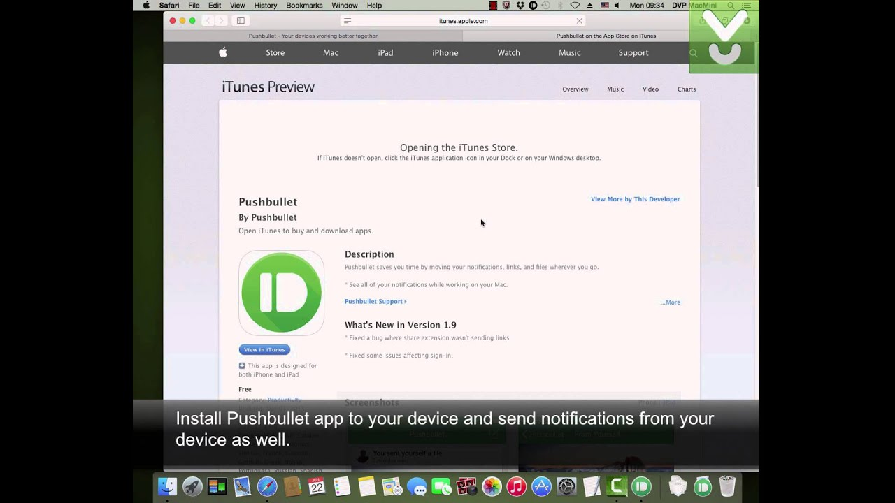 Pushbullet - Get immediate notifications from anywhere to your Mac -  Download Video Previews