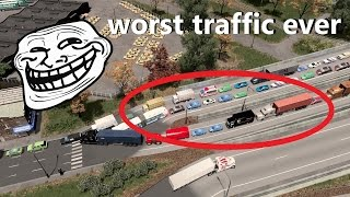 Cities: Skylines -  WORST TRAFFIC CITY EVER?!