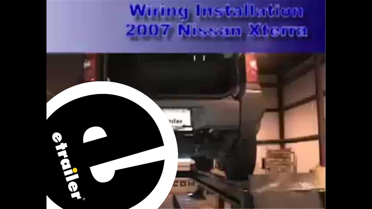 trailer wiring harness installation 2007 nissan xterra etrailer com [ 1280 x 720 Pixel ]
