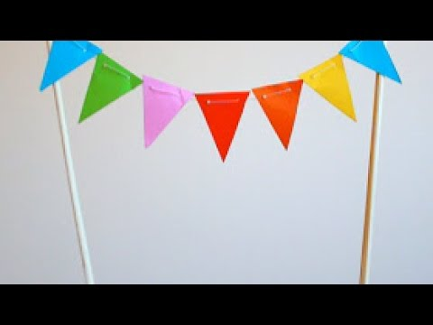 How To Make a Mini Paper Bunting Cake Topper - DIY Crafts Tutorial - Guidecentral