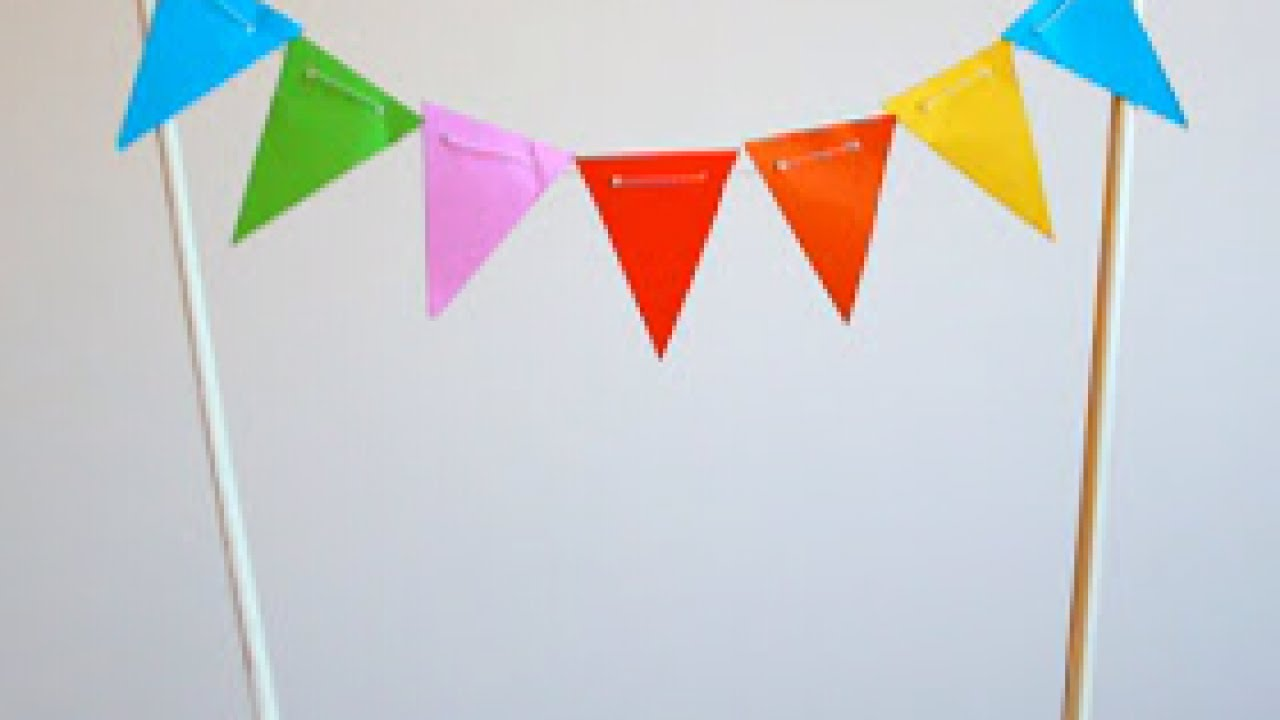 How To Make A Mini Paper Bunting Cake Topper Diy Crafts Tutorial Guidecentral You