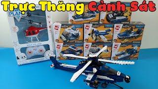 Đồ Chơi Lego Cảnh Sát -  Trực Thăng, Xe Tuần Tra, Ca Nô Siêu Tốc