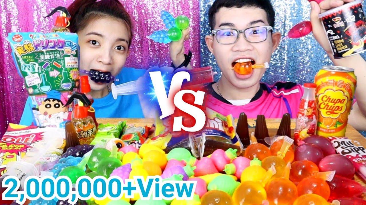 เยลลี่ผลไม้ เคียวโฮเจลลี่ ปีโป้รสโคล่า เลย์เผ็ด #Mukbang Tiktok Jelly Fruit Candy Challenge:ขันติ