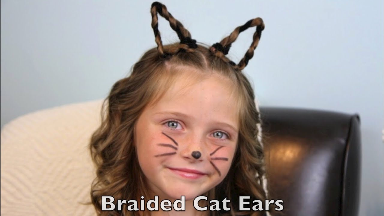 braided cat ears | halloween hairstyles | cute girls hairstyles