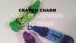 Rainbow Loom Bands Cute/easy Crayon Charm How To Make Tutorial By Crafty Ladybug