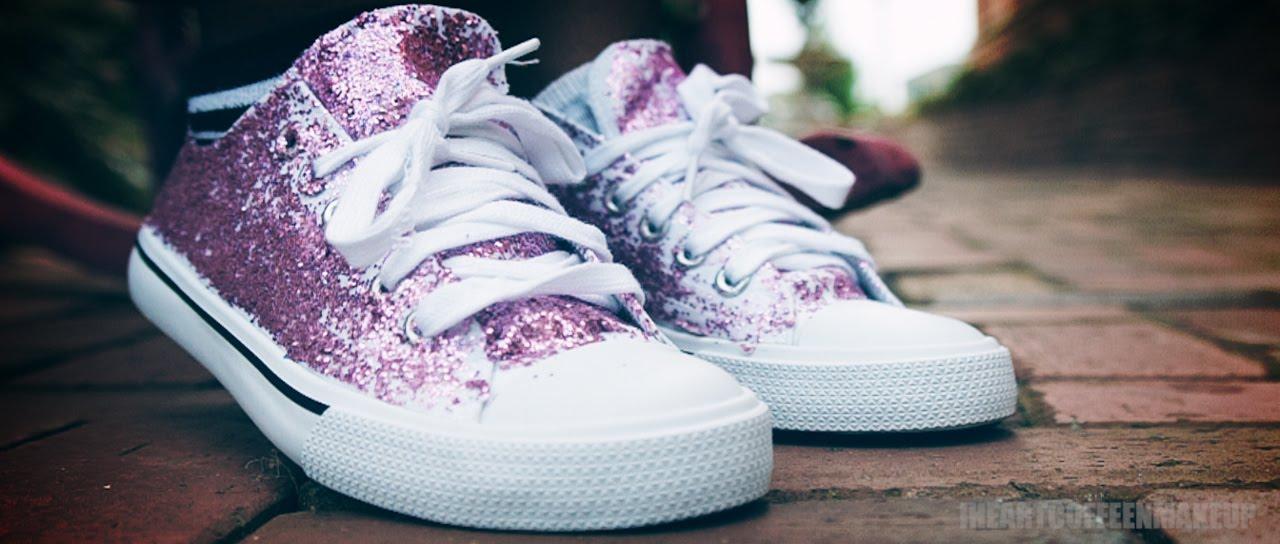 53b8702259a9 DIY | Glitter Sneakers!! - YouTube