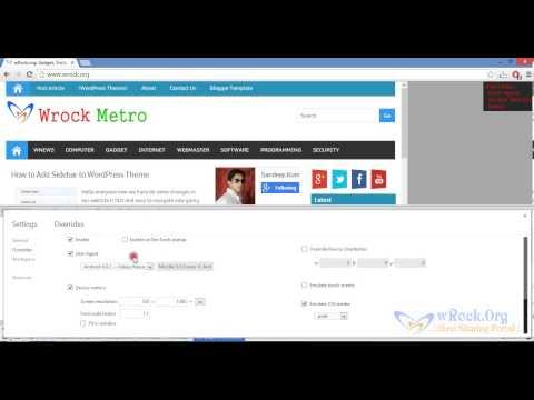 Mobile Emulator Test Website In Different Mobile Browser Chrome