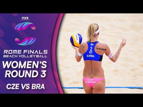 CZE vs. BRA | Women's Round 3 | Beach Volleyball World Tour Finals Rome 2019