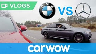 BMW 5 Series vs Mercedes E-Class ROLLING RACE - which 2.0-litre diesel is the quickest?   Mat Vlogs
