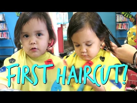 Thumbnail: TWIN'S FIRST HAIRCUT! - October 25, 2016 - ItsJudysLife Vlogs