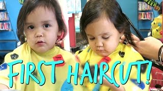 TWIN'S FIRST HAIRCUT! - October 25, 2016 - ItsJudysLife Vlogs
