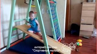 Детский спортивный комплекс Теремок фисташковый(ДСК Теремок в деревянном корпусе. Интернет-магазин
