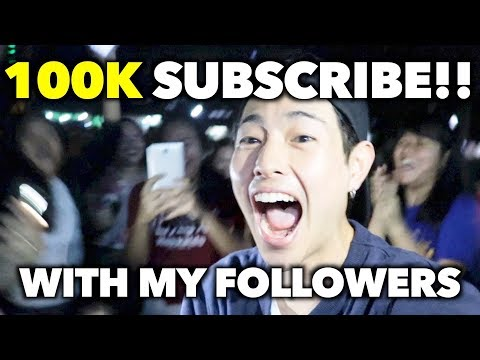 HIT 100K SUB ON MY CHANNEL AT QC!!!(Quezon city)