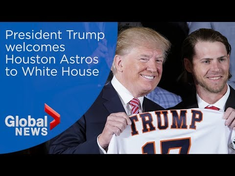 Trump welcomes World Series champion Houston Astros to White House (FULL)