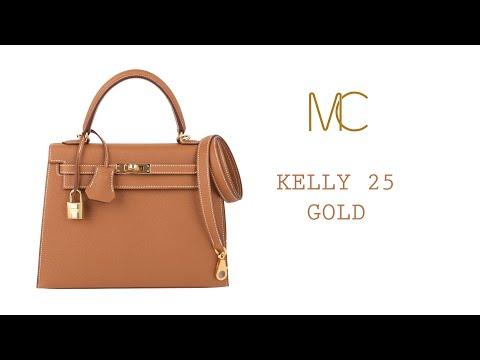 Hermes Kelly 25 Sellier Bag Neutral Gold Epsom Gold Hardware • MIGHTYCHIC •