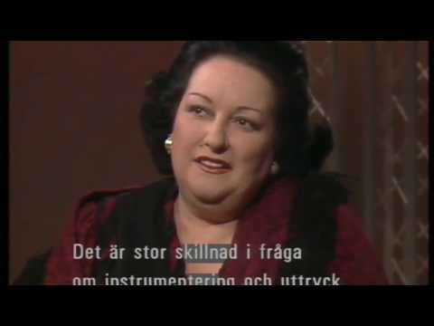 Montserrat Caballe about Freddie Mercury and Opera. Jacobs Stege, Sweden. 03.12.1988
