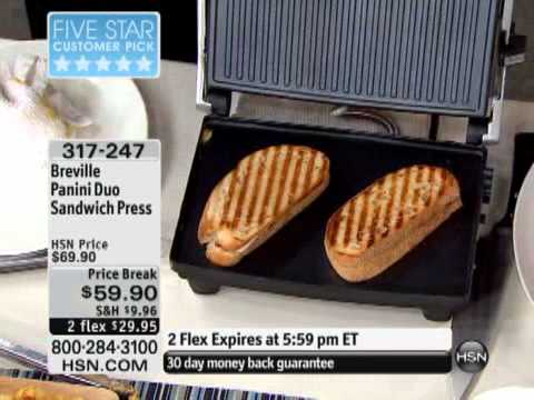 Breville Panini Duo Sandwich Press