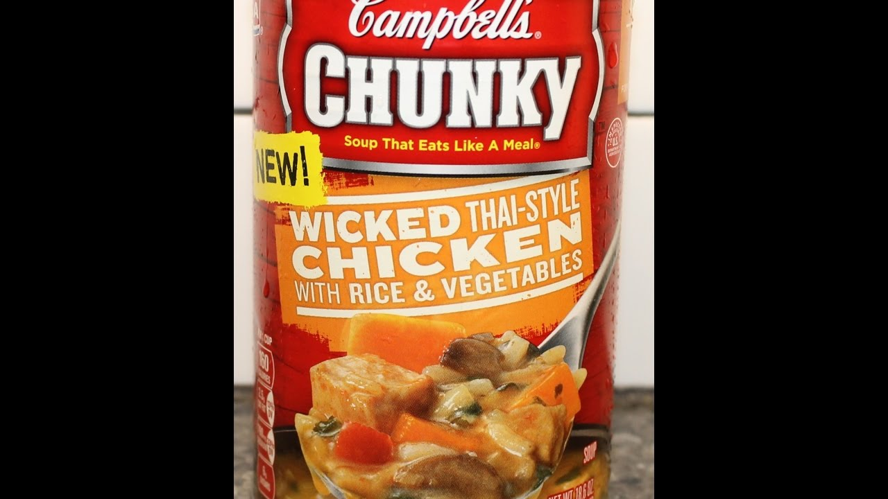 Deutsche Kuche Soup Campbell S Chunky Wicked Thai Style Chicken With Rice Vegetables Soup Review