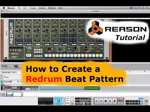 Reason Tutorial - Redrum Beat Pattern Track
