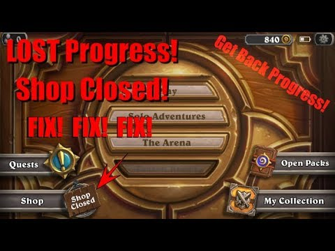 Shop Closed Fix! - Account Progress Lost Fix! - Heartstone Mobile/Android Fix!
