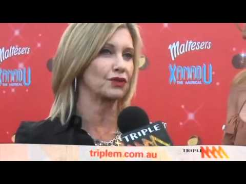 Olivia Newton-John on the red carpet of the Xanadu Premiere in Melbourne