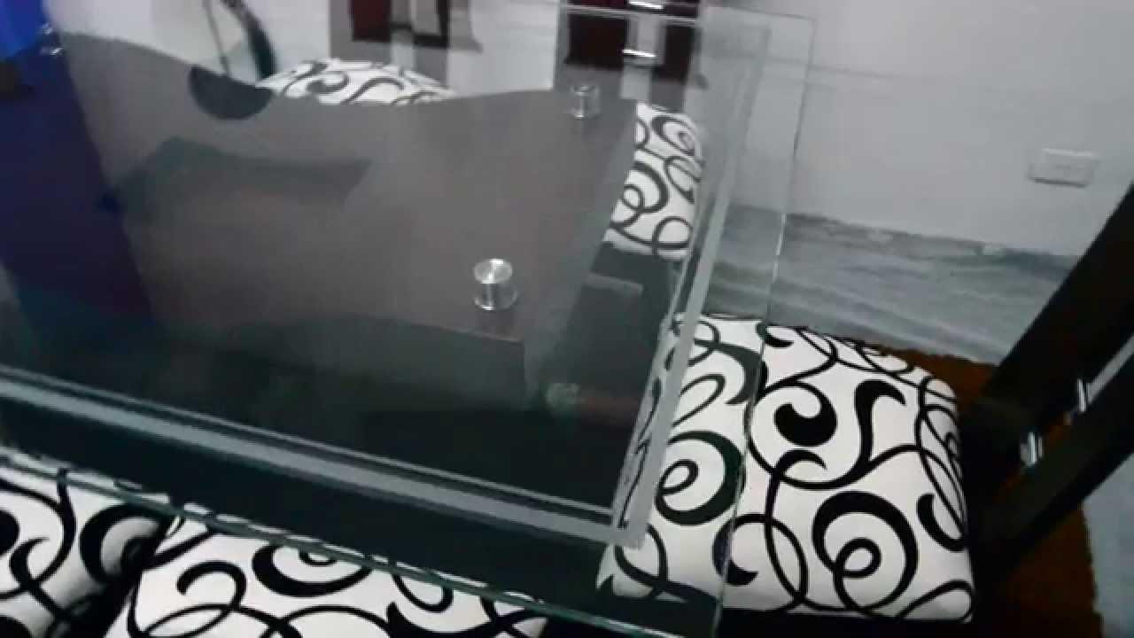 Maderos del l bano comedor cristal madera youtube for Comedores en madera y vidrio