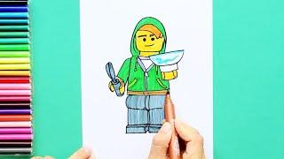 How to draw and color Lloyd Garmadon - LEGO Ninjago