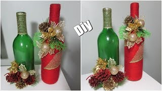 Faça você mesmo – Garrafas decoradas para o Natal