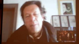 PTI chief Imran Khan Live Via Skype in Chicago Part 2