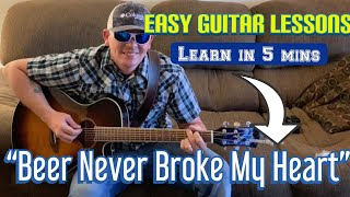 Download How To Play | Beer Never Broke My Heart | Luke Combs | Easy Guitar Lesson Mp3 and Videos