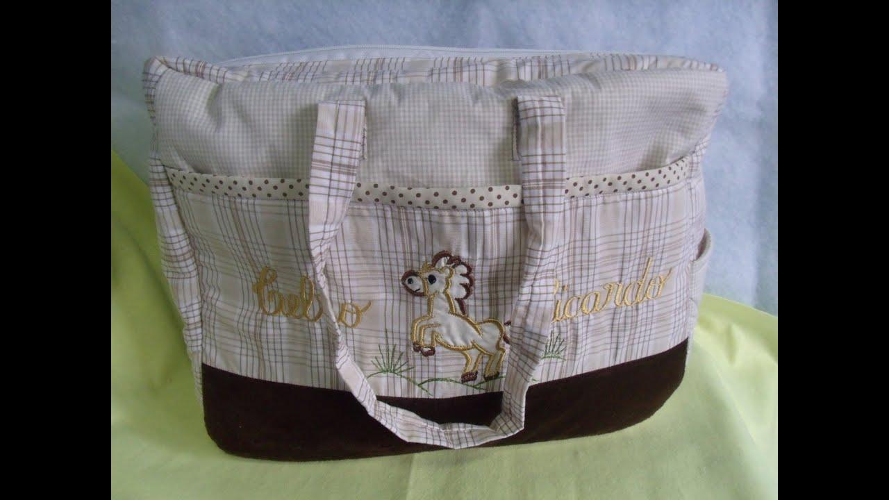 Bolsa De Tecido Bebe : Tutorial bolsa infantil