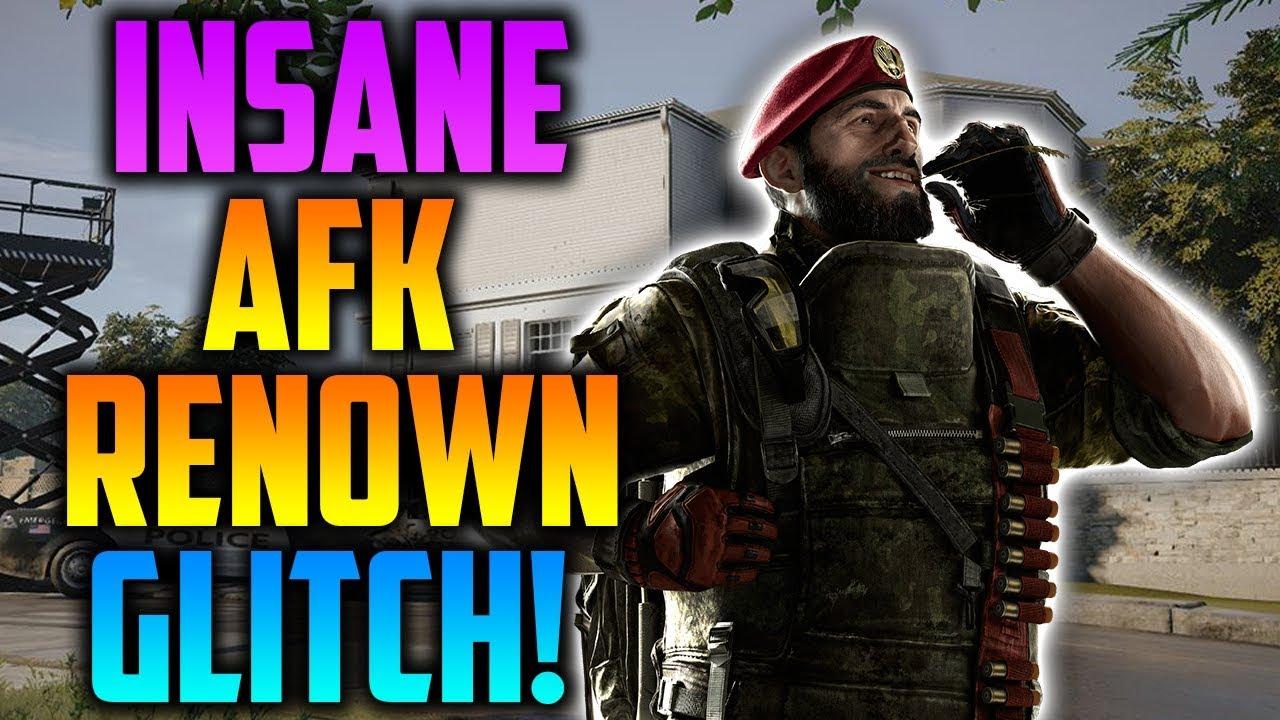 Crazy AFK Renown Glitch/Trick - Rainbow Six Siege - YouTube