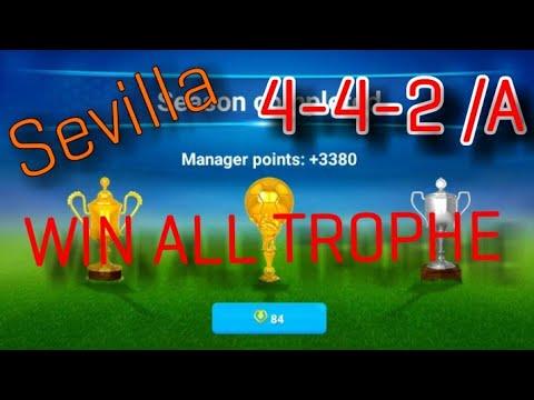 OSM Best Tactics 4-4-2 with Sevilla 2018/ WIN ALL TROPHE