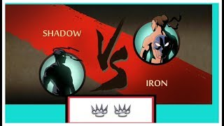 Shadow Fight 2 _ shadow vs iron full fight with using knuckles.