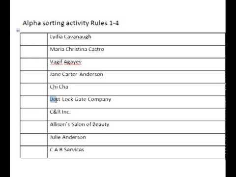 Filing Rules 1-4