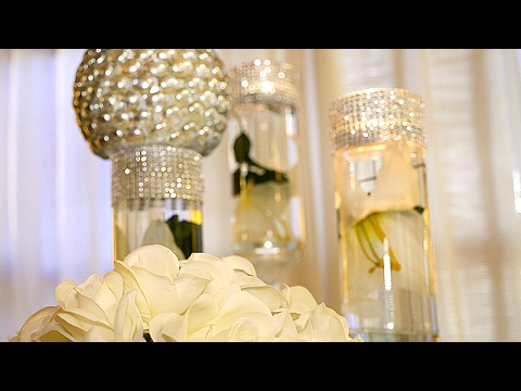 Diy Dollar Tree Wedding Bling Centerpieces Youtube