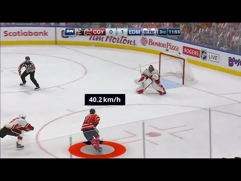 Breaking down McDavid's 40 km/h end-to-end speed