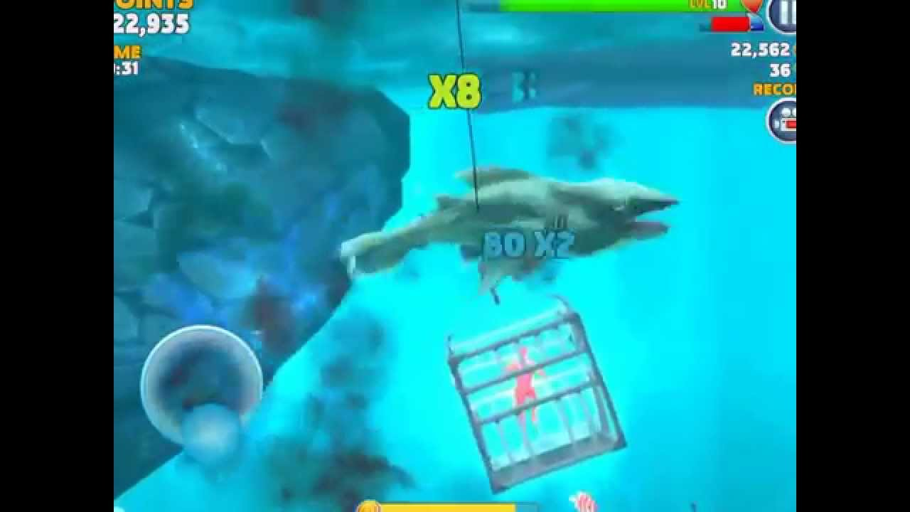hungry shark evalution gameplay part 8 electric shark and