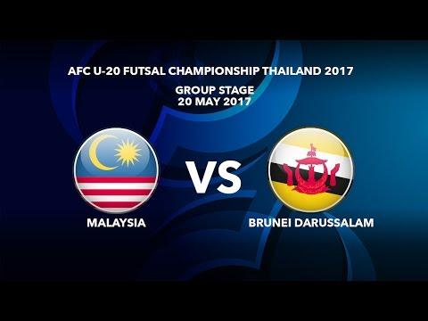 M43 MALAYSIA vs BRUNEI DARUSSALAM - AFC U-20 Futsal Championship Thailand 2017