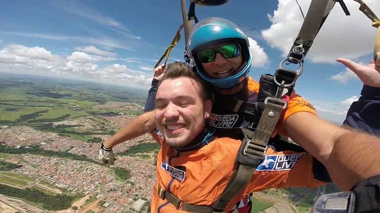 Salto de Paraquedas do Matheus V na Queda Livre Paraquedismo 15 01 2017